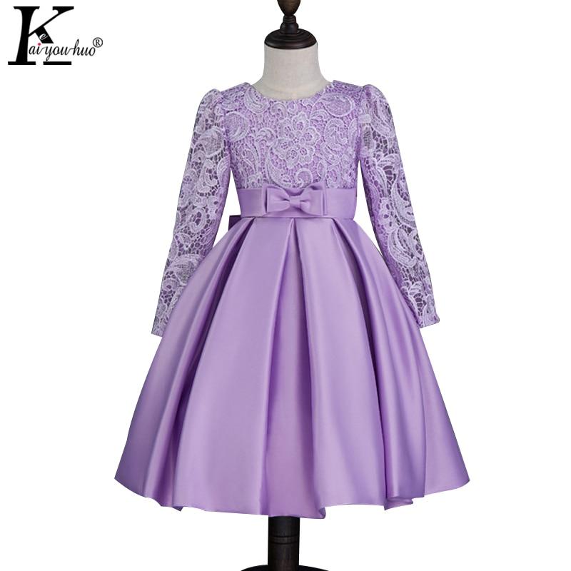 Girls Wedding Dress Vestidos Lace Children Princess