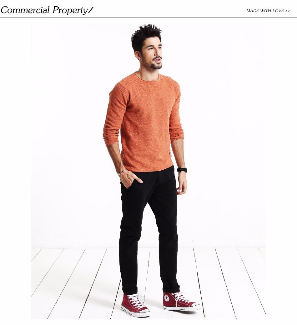 HTB1vcMIgrPpK1RjSZFFq6y5PpXau Simwood Brand Autumn Winter New Fashion 2019 Slim Straight Men Casual Pants 100% Pure Cotton Man Trousers Plus Size KX6033