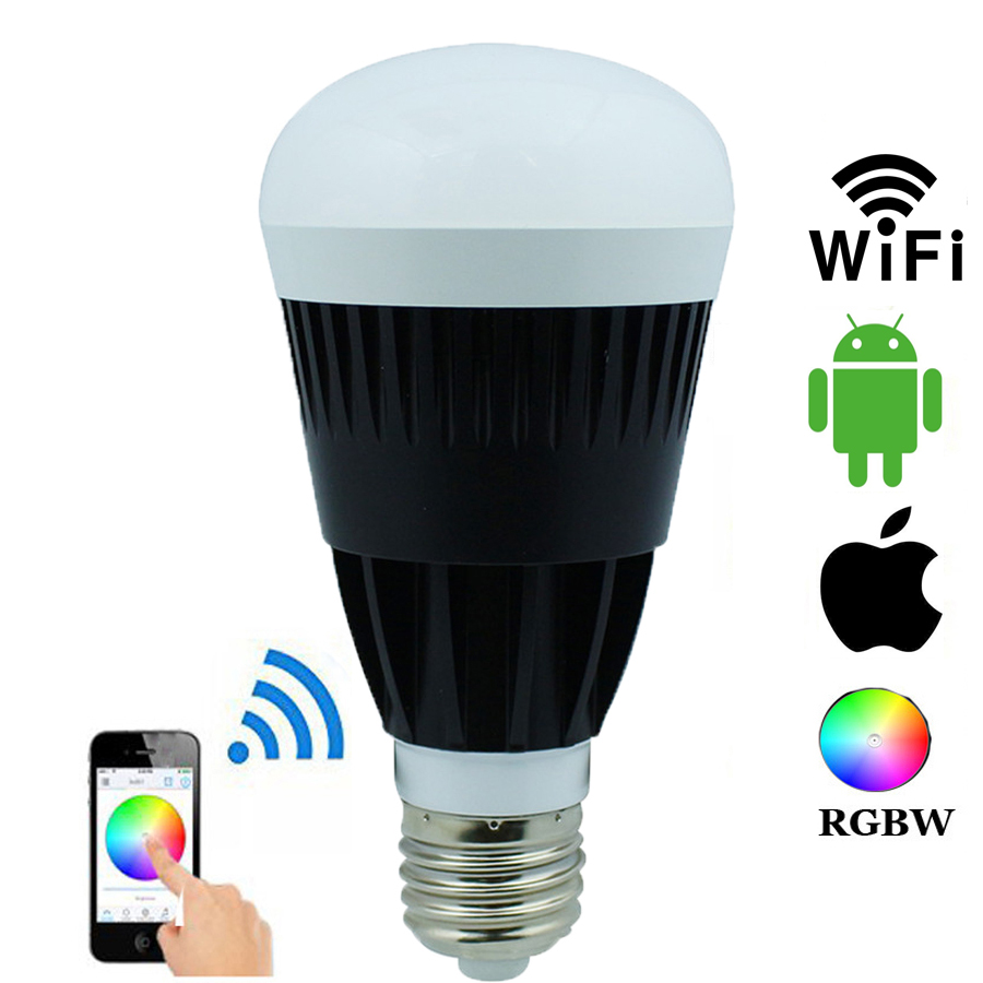ФОТО Magic Home Wireless Wifi E27 10W RGBW RGBWW LED Bulbs Smartphone App Remote Control Dimmable Bulbs For IOS Android Smartphone