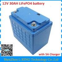 12 В 30ah lifepo4 батареи 12 В 350 Вт 12 В 30AH батареи 12 В 30000 мАч lifepo4 батарея с BMS 14,6 В 5A Зарядное Устройство Бесплатная таможенной пошлины