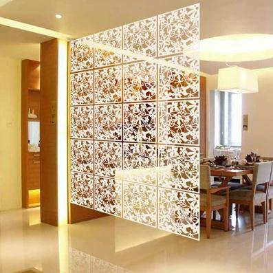 4PC Lot Folding Screen Room Divider Living Fashion Entranceway Door Hanging Dividers Black