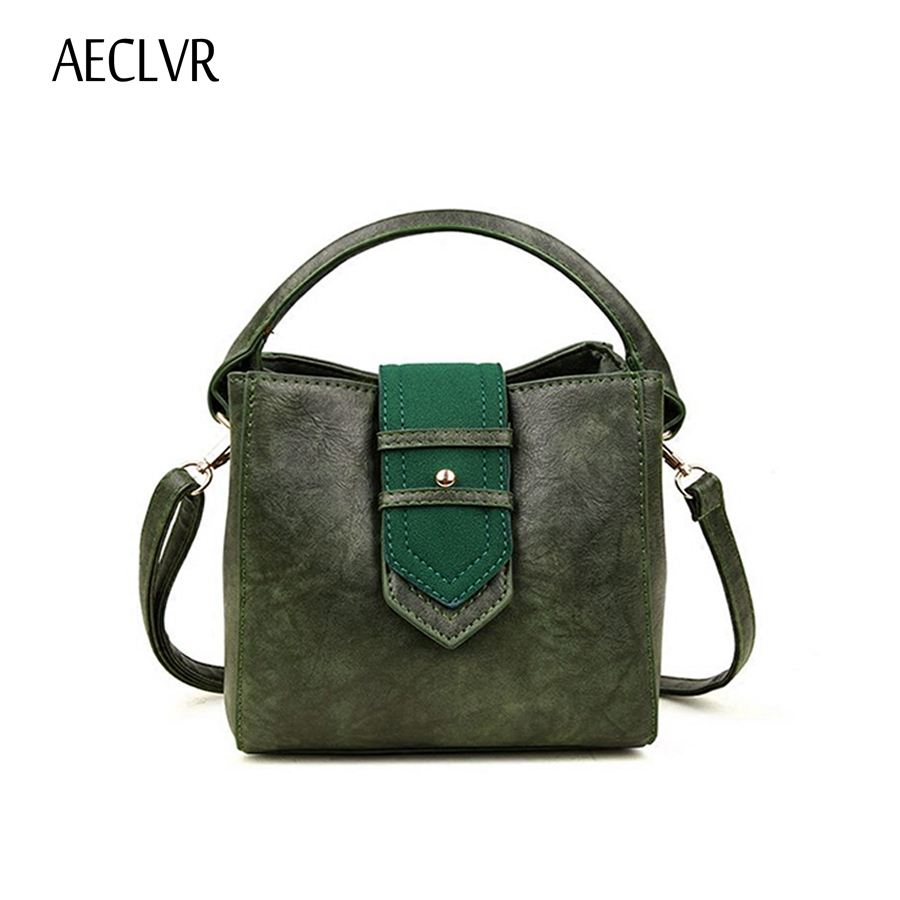 AECLVR Fashion Small Ladies Handbag Pu Leather Solid Soft Shoulder Bag All-match Women Crossbody Bag For Women Bolsa Feminina