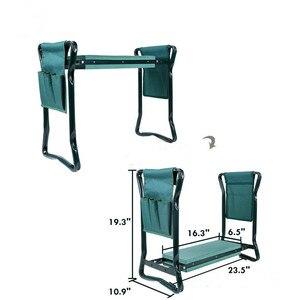 Image 5 - 1 Набор садовых сидений Складной садовый стул из нержавеющей стали с сумкой для инструментов EVA коврик на колени