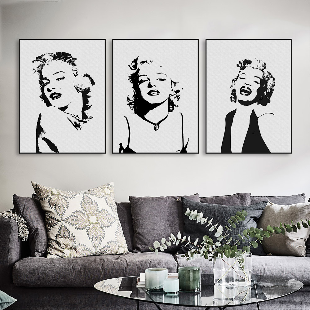 Marilyn Monroe Living Room Decor Popular Marilyn Monroe Canvas Art Buy Cheap Marilyn Monroe Canvas