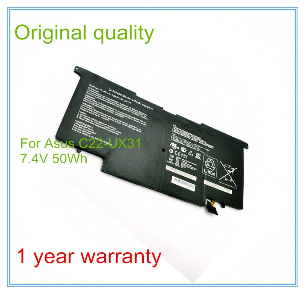 Original new Laptop Batteries for UX31 UX31A UX31E Batteries C22-UX31 7.4V 6840mAh 50WH c22 ux31 battery for asus c23 ux31 zenbook ux31a ux31e ultrabook series