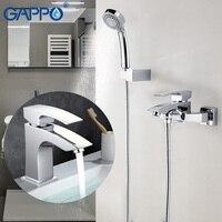 GAPPO смесителей тропических душей ванная комната настенный смесители для душа Ванна Душ Набор Смеситель для воды