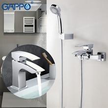 GAPPO doccia a pioggia rubinetti bagno fissato al muro bagno doccia rubinetti vasca da bagno doccia set doccia miscelatore acqua