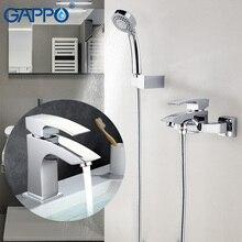 GAPPO rain shower faucets bathroom wall mounted bathroom shower taps bath shower set shower water mixer