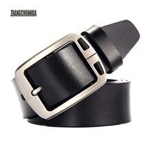 купить Gifts for men high quality genuine leather belts for men cowboy Luxury strap brand male vintage fancy jeans designer belt Men онлайн