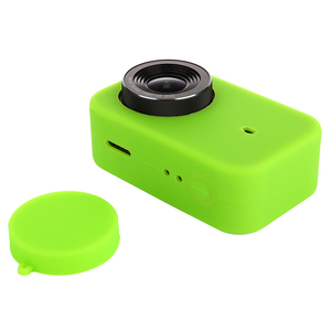 Image 4 - LANBEIKA For Xiaomi Mijia 4K Accessories Silicone Protection Case + Lens Cover Mount Kit Skin for Xiaomi Mijia 4K Action Cam