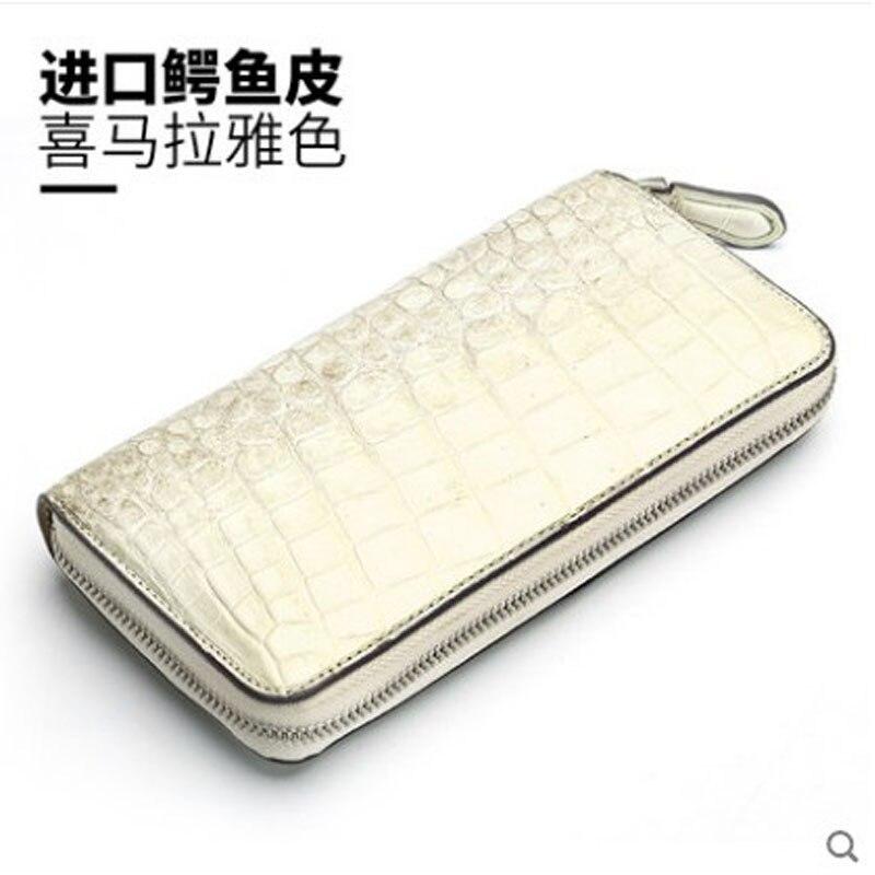 hanlante Crocodile leather wallet for women leather long handbag 2019 new belly wallet for women - 2