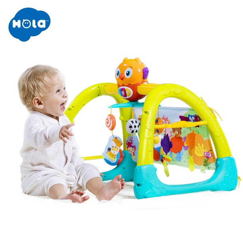 HUILE TOYS 2105 bébé jouets 5 en 1 jouer Gym bébé jouet tapis de jeu et ours dormant éducatif ramper activité tapis jouer Gym tapis