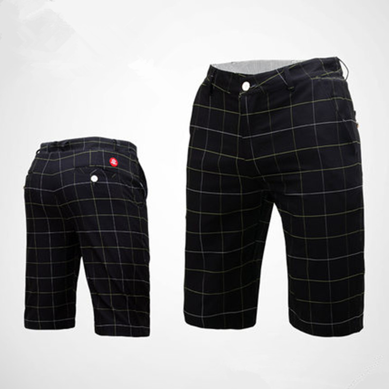 Counter new PGM golf costume male summer shorts golf ball short plaid short retro aristocratic plaid high elasticity is not tigh golf ball sample display case