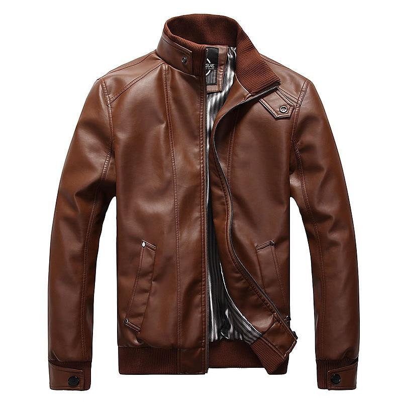 Hot High Quality font b Men s b font Leather Jackets Motorcycle font b Clothing b