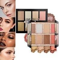 8 цветов профессиональный макияж лица Контур Хайлайтер для макияжа Палитра осветить Iluminador устойчивая косметика
