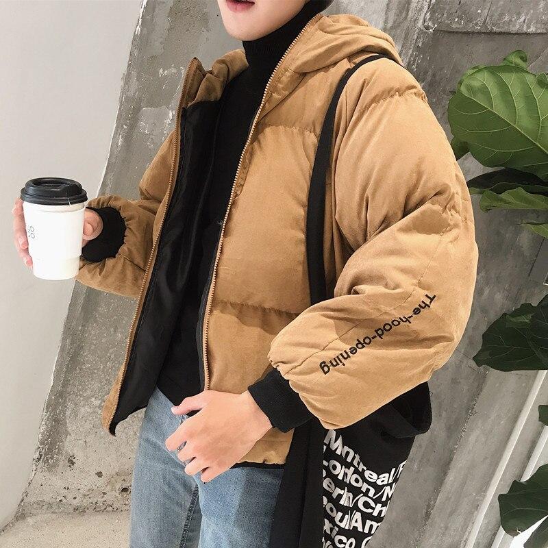 цены на 2017 Winter Smiling Bread Loose Cotton Coat varsity jacket brand clothing casual men warm Parkas Free shipping в интернет-магазинах