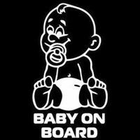 black silver 10.2*18.2CM New BABY ON BOARD Vinyl Car Styling  Motorcycle Accessories Decorative Black Silver Car Sticker (2)