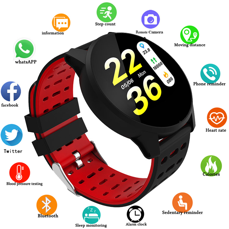box Men's Watches Schnoah New Smart Watch Men Women Heart Rate Monitor Blood Pressure Fitness Tracker Smartwatch Sport Watch For Ios Android Watches