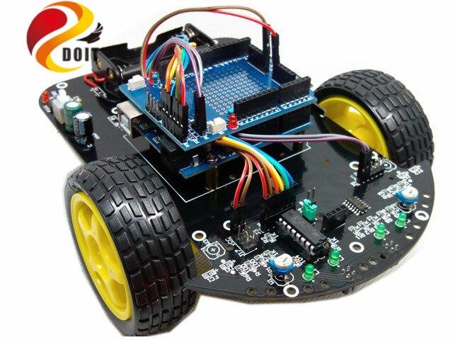 Oficial DOIT Smart Car RC Robot Inteligente Starter Kit Diy Desarrollo Juguete Elecotronic Traje raspberry pi juguetes de control remoto