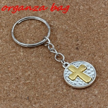 3pcs Keychain Crucifix Cross Religion Charms Pendant Travel Protection 19.5x70mm DIY Jewelry A-265f