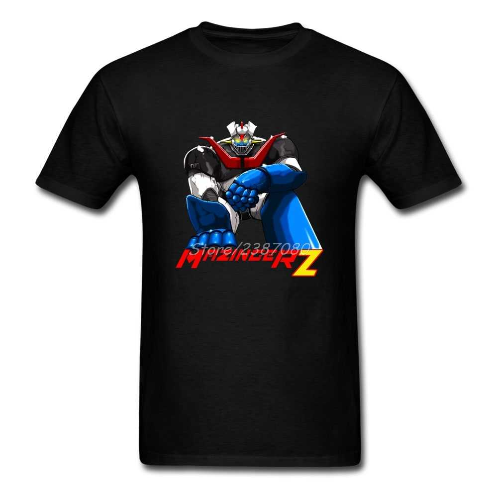 Мазингер Z T рубашка большого размера с коротким рукавом пользовательские мужские футболки топ 3d Принтер хлопок Забавные футболки