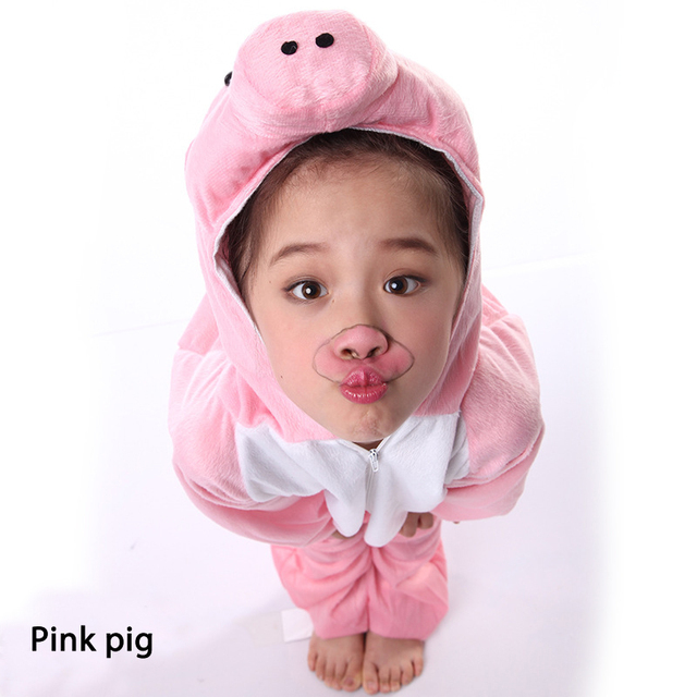 Kids Cosplay Costumes Combinations Cartoon Animals pig wolf tiger Costumes Kindergarten Celebrate Carnival clothes for kids 1