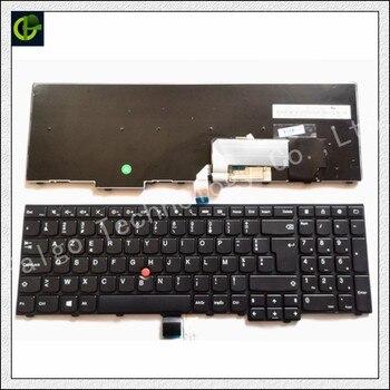 New Pháp Azerty Bàn Phím cho Lenovo ThinkPad W540 W541 W550s T540 T540p T550 L540 Cạnh E531 E540 0C44592 0C44913 0C44944 FR