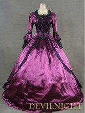 Фиолетовое платье marie antoinette с помпоном в викторианском
