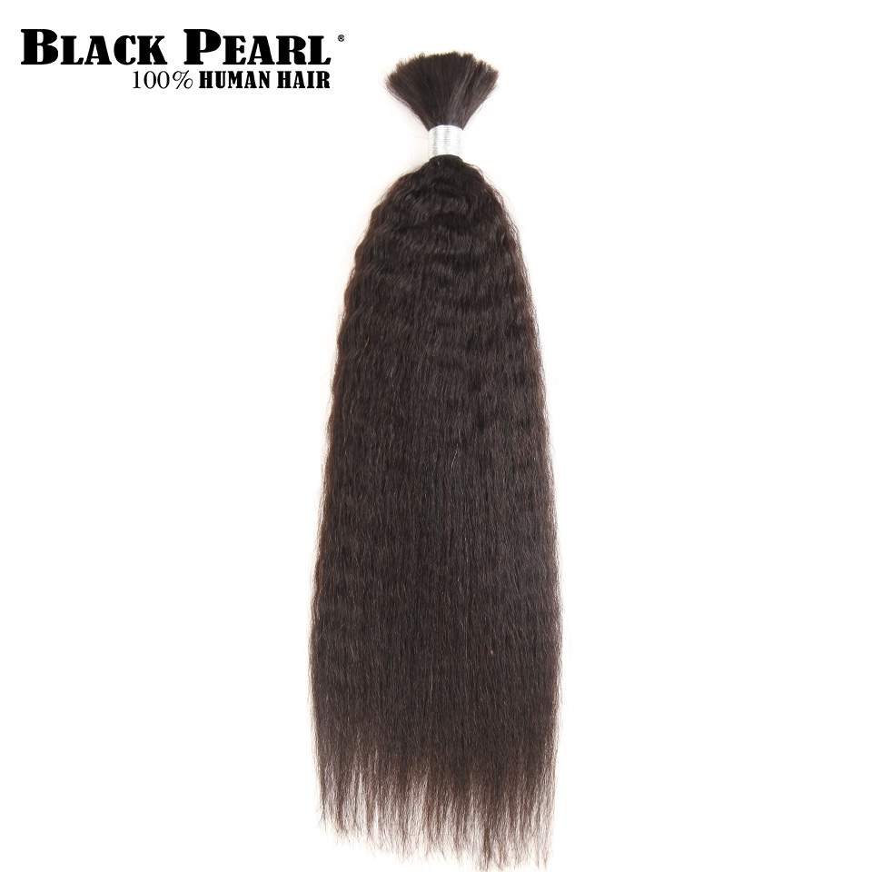 Provided Black Pearl Pre-colored Brazilian Hair Weave Bundles Yaki Striaght Human Hair Bulk 1 Bundle Braiding Hair Extensions Braids Hair Human Hair Weaves Hair Extensions & Wigs