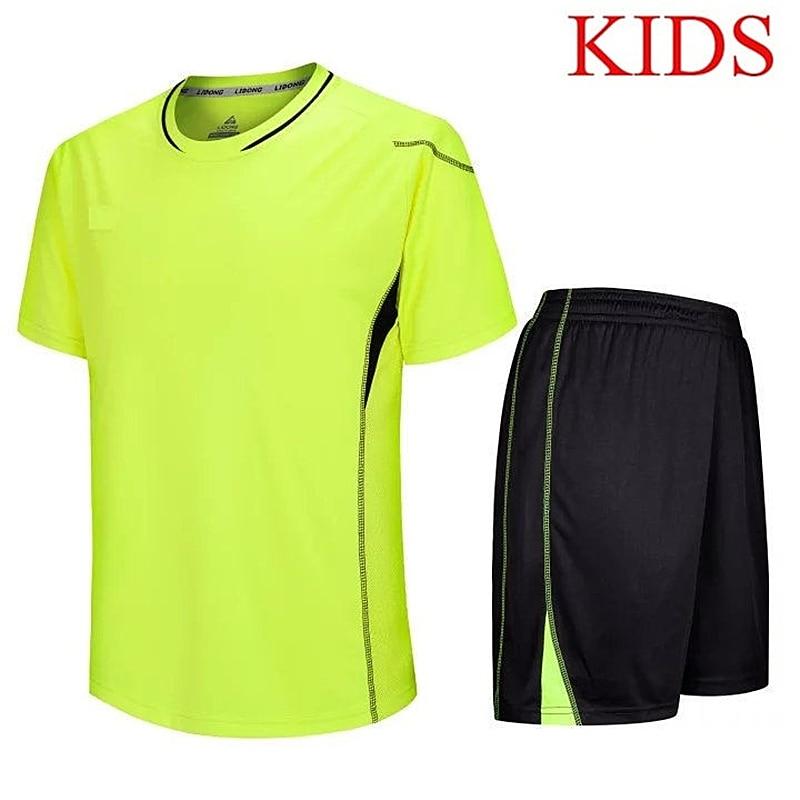Kids Soccer Jerseys Blank Children Football Tracksuit Maillot De Foot Survetement Football Jersey Sport Suit Boys Training Suits