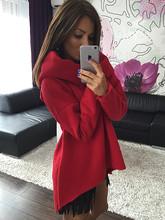 Women Winter Hoodies Scarf Collar Long Sleeve Fashion Casual Style Autumn Sweatshirts 2016 S-XL EPHO80216