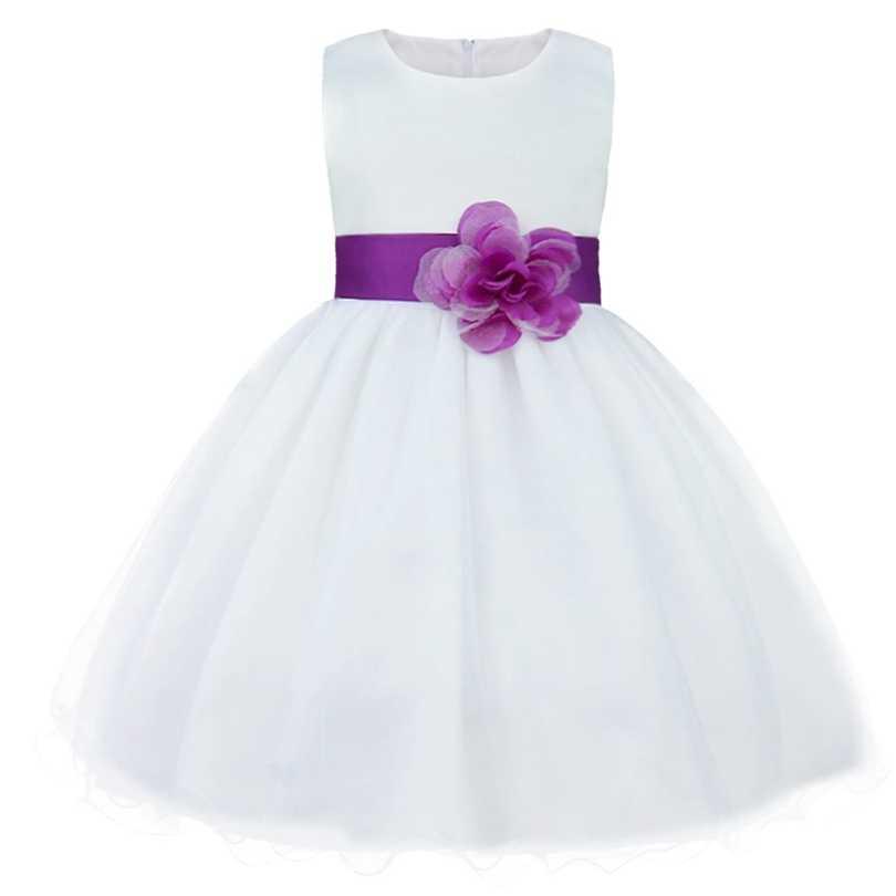 מותג חדש 9 צבעי TiaoBug באורך הברך פורמליות שמלות ילדה פרח לחתונה נסיכת ילדה תחרות ראשית הקודש בנות 2-14Y