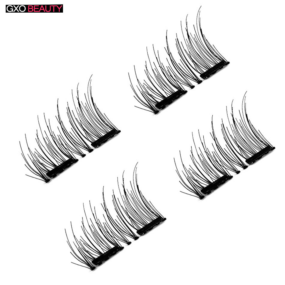 GXO BEAUTY Magnetic False Eyelashes Glue Repeatedly with Double Super Thin Magnet Natural Fashion Magnet Eyelashes-D1