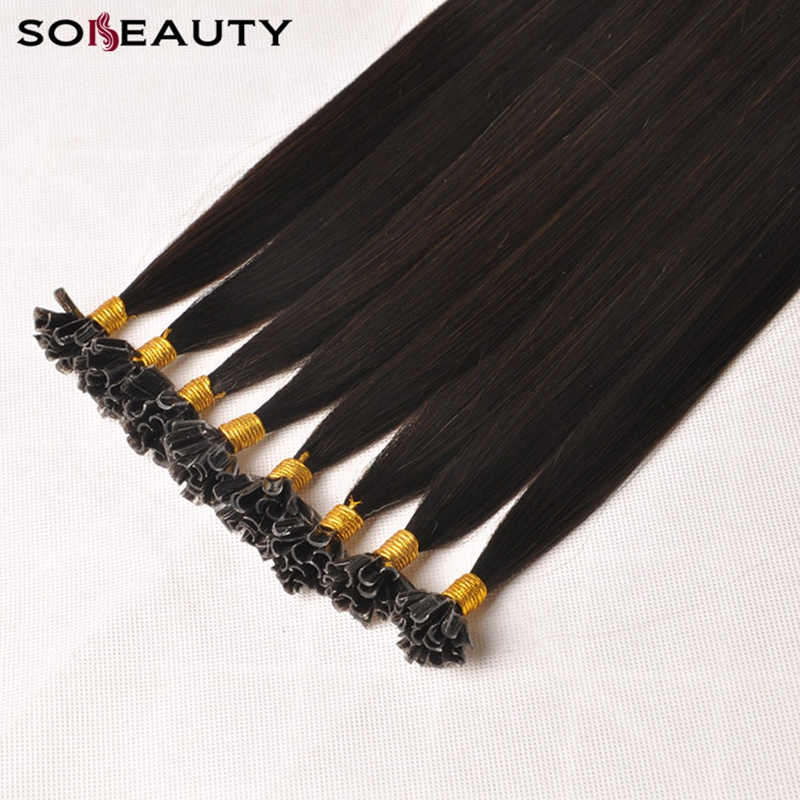 Sobeauty U Tip Hair Extensions Human Hair Extensions Remy Hair Extension 2#18#60# Hair Extension For Capsules 5strand/pack
