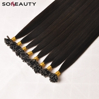 Sobeauty U Tip Hair Extensions Human Hair Extensions Remy Hair Extension 2#18#60# Hair Extension For Capsules 5strand/pack
