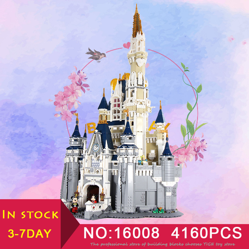 LEPIN 16008 Cinderella Princess Castle City Set 4160PCS Compatible LegoINglys 71040 Model set Building Blocks Kid Brick Toy
