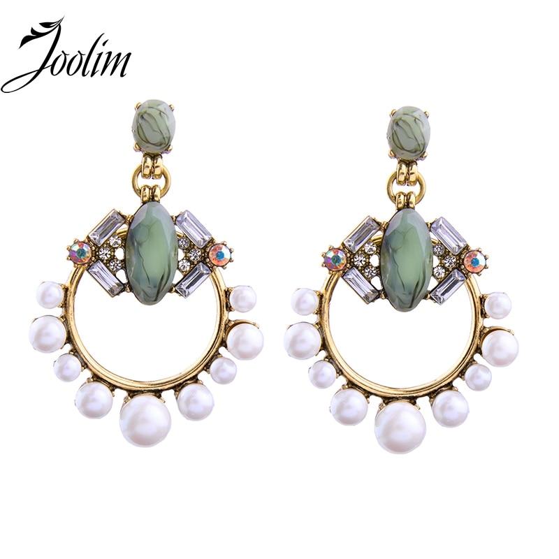 11.11 Na debelo nakit / krasen simuliran biserni uhan lestenec uhani izjava uhani ženske darilo indijski nakit