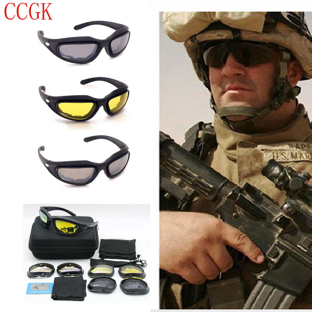New Outdoor Polarized Goggles Desert Storm Tactical Sunglasses Moto Cycling Windproof Eyewear Eye Protection UV400 4pairs Lens nuckily pa01 uv400 protection outdoor cycling polarized sunglasses goggles yellow red