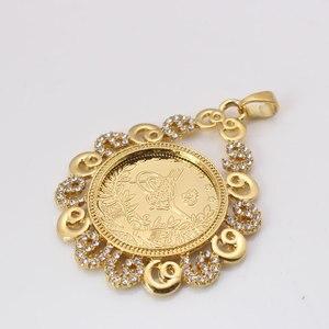 Image 3 - ZKD İslam arap sikke altın renk türkiye paraları kolye kolye müslüman osmanlı paraları takı