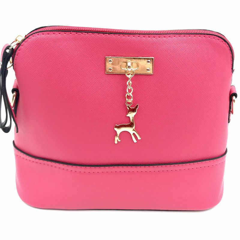 2019 популярные женские сумки кожаная модная маленькая сумка в форме раковины с игрушкой оленя женская сумка на плечо Повседневная сумка через плечо