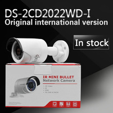 In Stock Free shipping DS-2CD2022WD-I English version 2MP IR Bullet Network Camera P2P CCTV camera POE Backlight Compensation