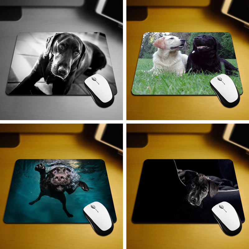 MaiYaCa Black Labrador New Size Mouse Pad Non Skid Rubber Pad 18 22cm and 25 29cm