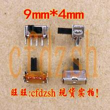 (10 pcs) 90 derajat tikungan kaki gerakan EVD DVD ponsel TV saklar daya 9*4mm toggle switch kecil baris tunggal(China)