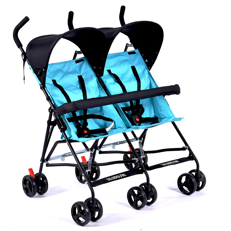 Travel Portable Double Stroller for Twins Folding Umbrella Baby Cart Double Stro