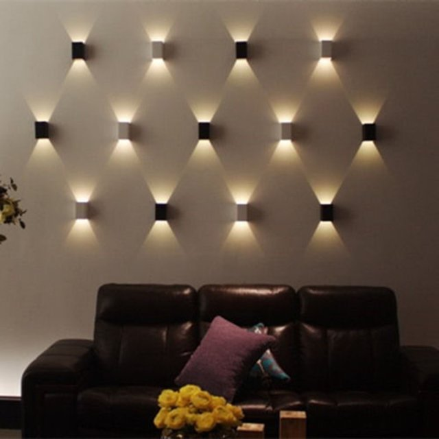 Delightful 3W Modern Led Wall Light Wall Sconces Lamp 85 265v Cubic Body Up Down Ray