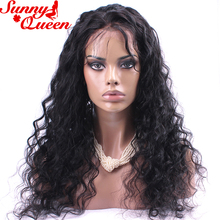 250% Density Lace Front Human Hair Wigs For Black Women Hairline With Baby Hair Loose Wave Remy Hair Wig Sunny Queen