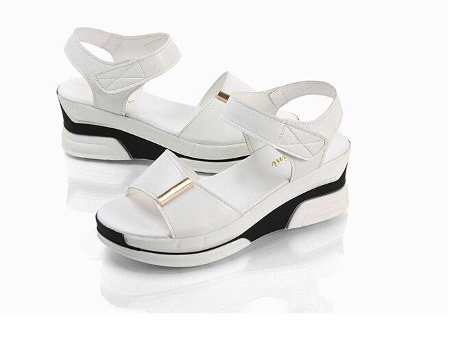 Ans Couleur Qualité Top De Pur Poisson kaki Nouveau 35 Style Femmes D'été 39 Bouche Sandales 2017hot multi Noir Mode blanc B1qRSxw