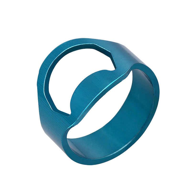 Forma de anillo abridor de cerveza de acero inoxidable colorido 1 PC gran venta diámetro de alta calidad 22mm Popular Multi- función de abrelatas de botella