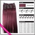 """15 """" - 22 """" Remy cabelo clipes retas em extensões de cabelo de 70gr # Fantasy Red"""