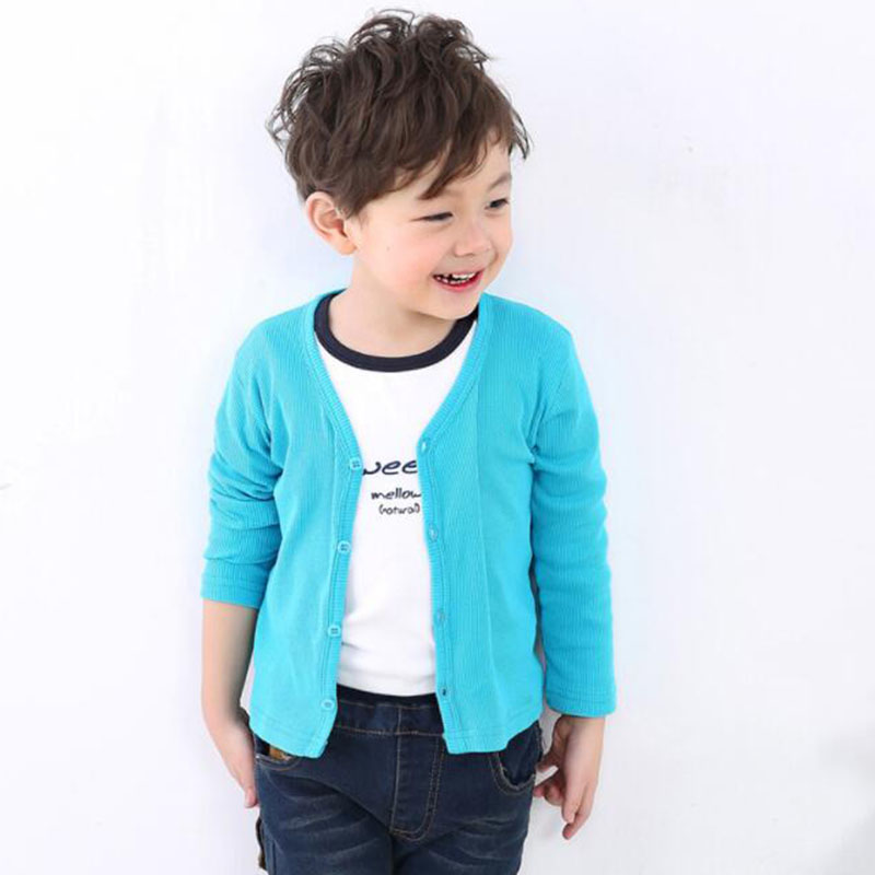 4f8dab40783cb Kids Spring Wear Cotton Sweater 2019 New Children Baby Kids Girl Boy  Knitted Sweater Cardigan Tops Outfit Colorful Sweater